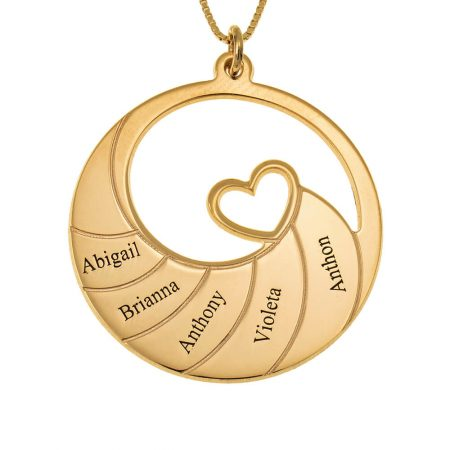 Five Names Spiral Necklace
