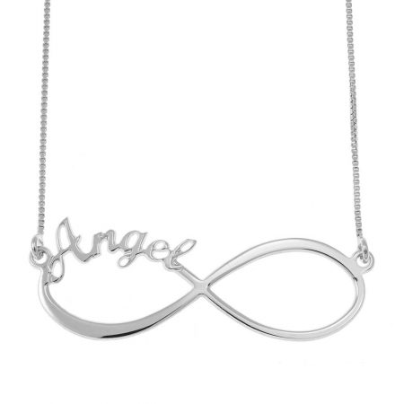 Infinity One Name Necklace