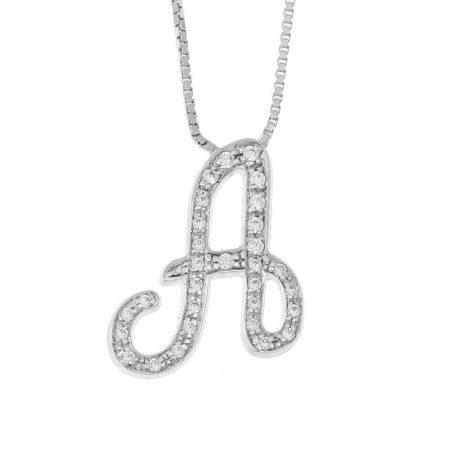 Sparkling Initial Necklace