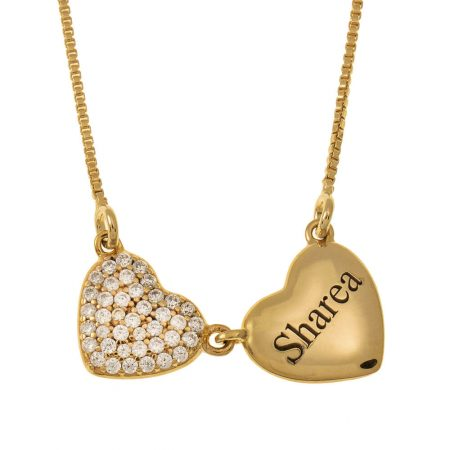 Two Hearts Name Necklace