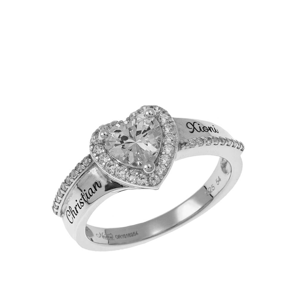 Big Heart Promise Ring silver
