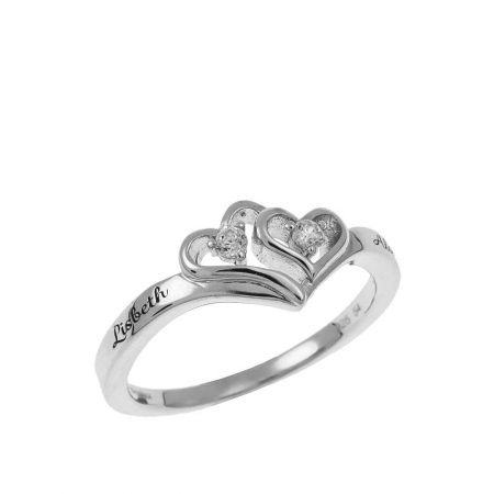 Two Hearts Promise Ring