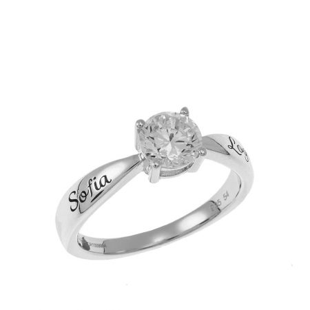 Personalized Solitaire Ring