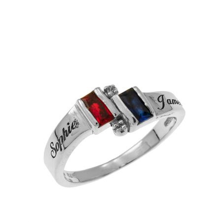 Personalized Birthstone Promise Ring
