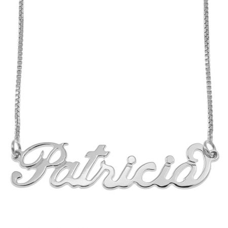 Small Carrie Name Necklace with Box Chain