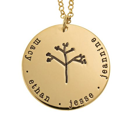 Disc Family Tree Necklace