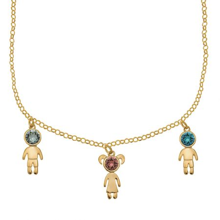 Birthstone Kids Charms Necklace