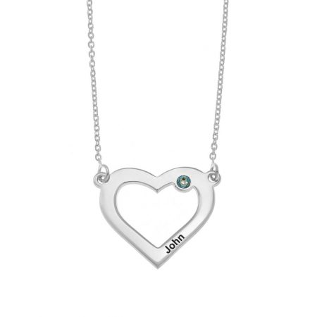 Heart and Birthstone Necklace